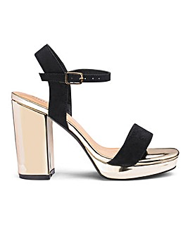 Mia Platform Block Heel Wide Fit