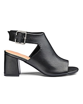 Darcy Square Toe Shoe Boots Wide Fit