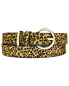 Accessorize Leopard Leather Jeans Belt
