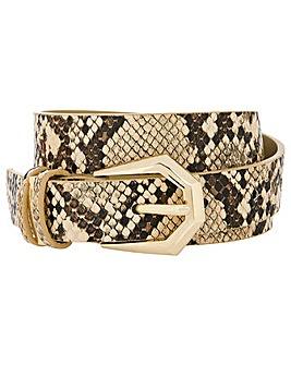 Accessorize Snake Print Belt