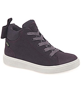 Ecco S7 Teen Bow Girls Hi Top Boots