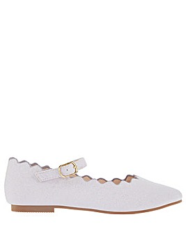Monsoon Lillian Scalloped Ballerina