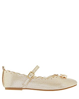 Monsoon Christie Scalloped Bow Ballerina