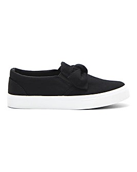 Aurora Bow Slip On Pumps Extra Wide Fit