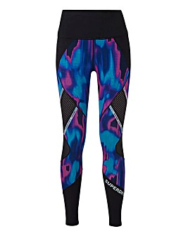 Superdry Sport Mesh Panel Leggings