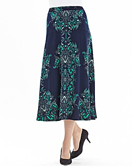 Nightingales Scarf Print Skirt