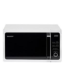 Sharp 900W 23 Litre Silver Microwave