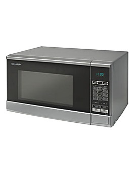 Sharp 800W Silver Microwave