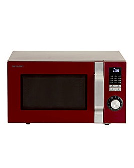 Sharp R344RDM 25L 900W Red Microwave