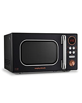 Morphy Richards 800W Black Microwave
