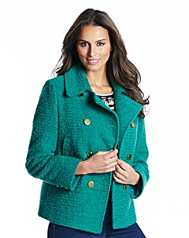 Nightingales Boucle Jacket With Contrast Buttons