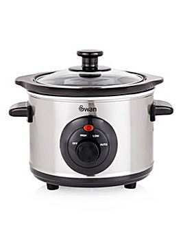 Swan 1.5 Litre Steel Slow Cooker