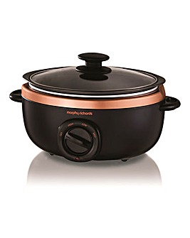 Morphy Richards 3.5L Rose Gold and Black Slow Cooker
