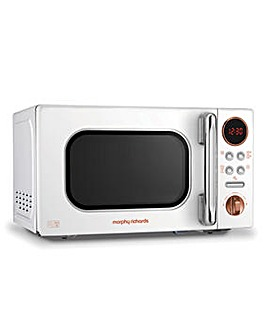 Morphy Richards 511504 20L Digital Microwave - White and Rose Gold