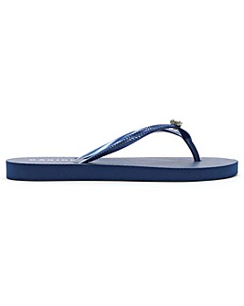 Daniel Elona Jewelled Toe Post Flip Flop