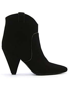 Daniel Ideal Suede Western Ankle Boots