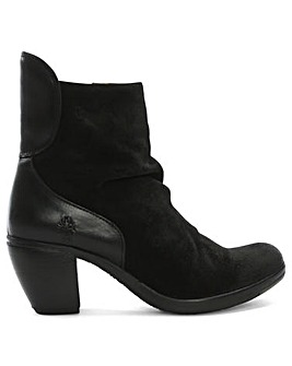 Fly London Hota Suede Ruched Ankle Boots