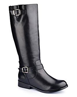 Sole Diva Buckle Boot Curvy Plus E