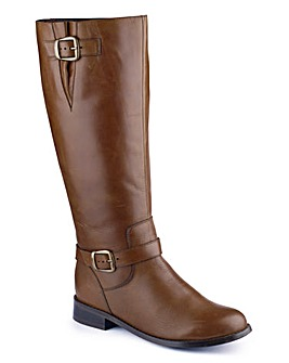 Sole Diva Buckle Boot Extra Curvy Plus E