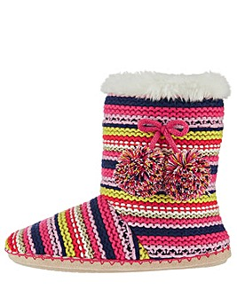 Accessorize Knitted Multistripe Boot