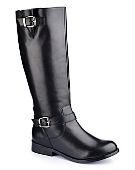 Sole Diva Buckle Boot Curvy Plus EEE Fit