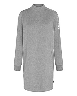 Calvin Klein Funnel Neck Logo Dress
