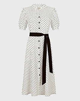 Hobbs Eliza Polka Dot Shirt Dress