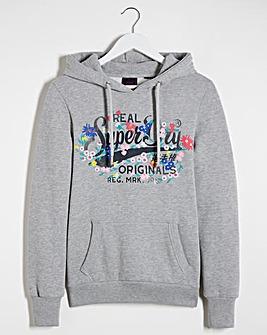Superdry Floral Logo Hoodie