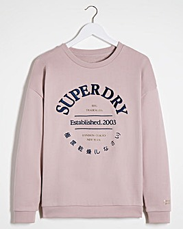 Superdry Applique Serif Crew Sweat