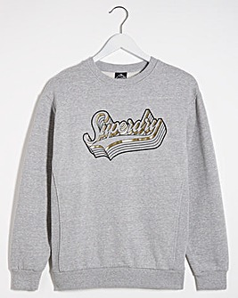 Superdry Mono Shadow Crew Sweat