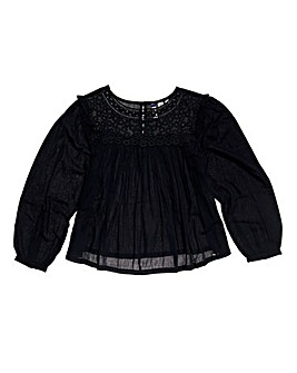 Superdry Ellison Lace Long Sleeve Top