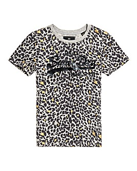 Superdry Logo Animal Print Tee