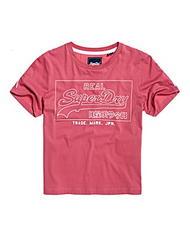 Superdry Outline Piping Boxy T-Shirt