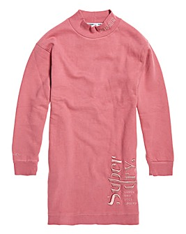 Superdry Scandi High Neck Sweat Dress