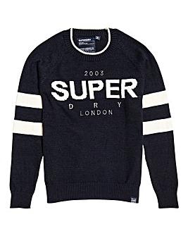 Superdry 90's Logo Intarsia Knit