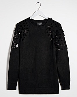 Lovedrobe Sequin Shoulder Jumper