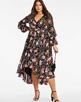 Lovedrobe Romantic Printed Wrap Dress