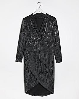 Lovedrobe Metallic Wrap Dress