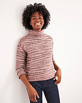 White Stuff Animal Stripe Jumper