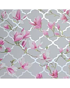 Magnolia Trellis Grey & Pink WP