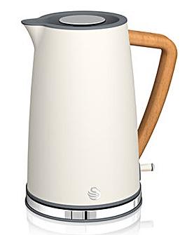 Swan SK14610WHTN 1.7Litre Nordic Style White Rapid Boil Kettle