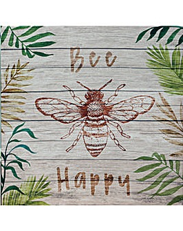 Arthouse Bee Happy Outdoor Canvas