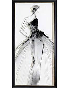Arthouse Glitter Lady 2 Framed Print