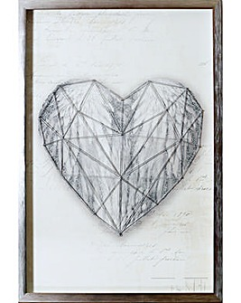 Arthouse Heart String 3D Framed Print
