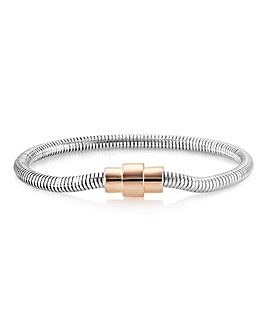 Buckley Rhodium Plated Eternity Bracelet
