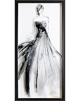 Arthouse Glitter Lady 1 Framed Print