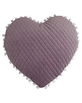 Pom Pom Heart Cushion