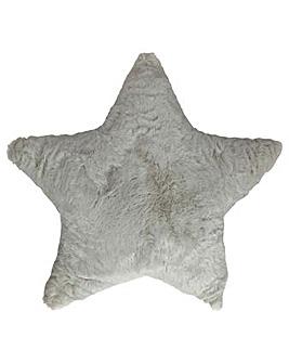 Faux Fur Star Cushion