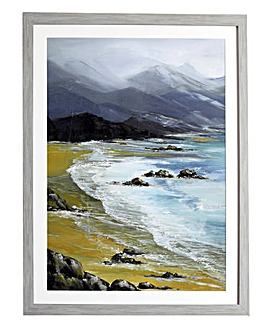 Arthouse Black Bay Framed Print