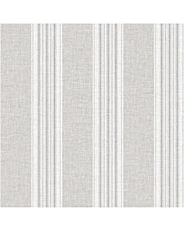 Arthouse Ticking Stripe Grey Wallpaper